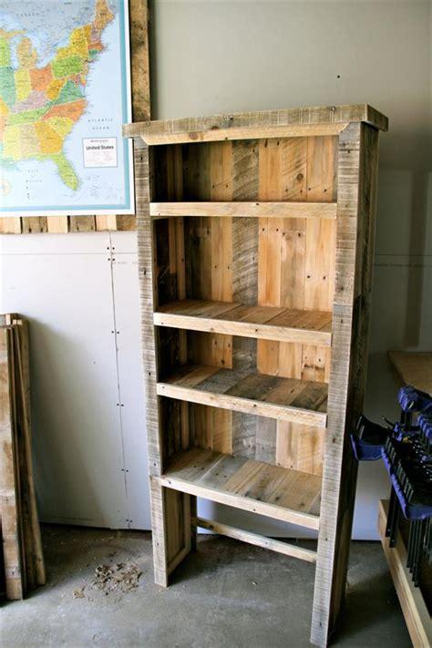 pallet bookshelf plans diy recycled pallet bookcase pallet furniture plans