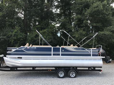 Crest Pontoon Boats For Sale crest pontoon boats boats for sale in alabama boats
