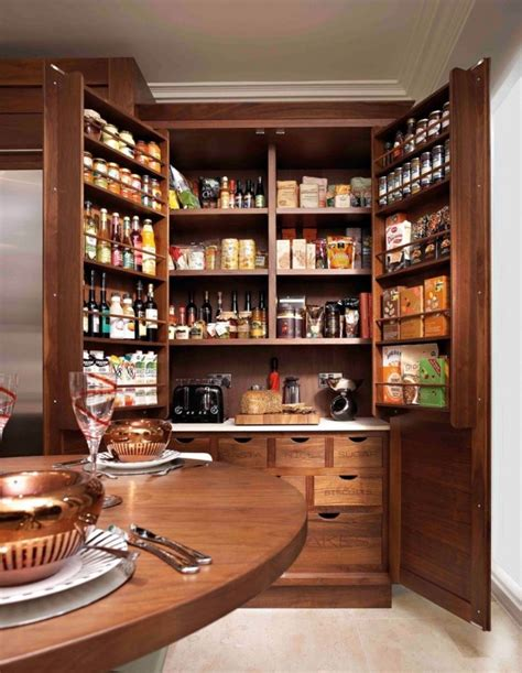 Kitchen Pantry Cabinet by Cottage Oak Pantry With Drawer And Oak Brown