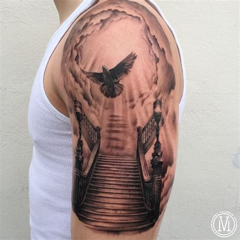 Staircase To Heaven Tattoo by Manny Valerio Art Fairfield County Tattoos And Fine Art