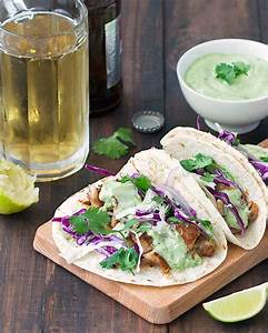Blackened Fish Tacos with Avocado Sauce - As Easy As Apple Pie