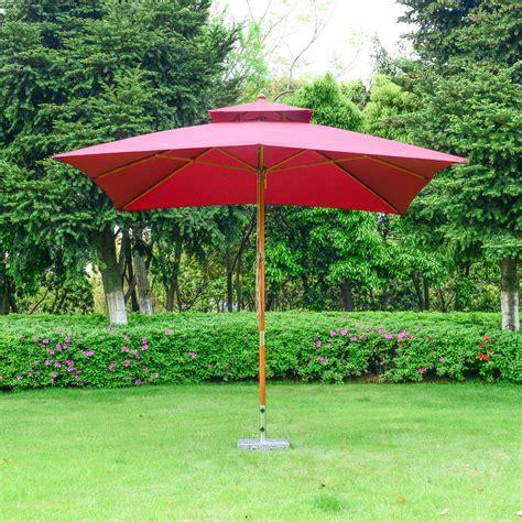 outsunny  garden parasol patio bamboo sun umbrella sun shade outdoor canopy ebay