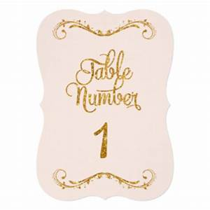 Table Number 1 Invitations & Announcements | Zazzle
