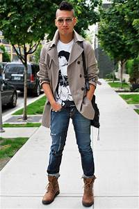 Brown boots outfit men