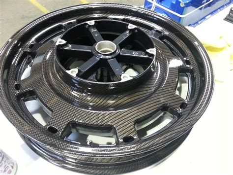 Motorbike Alloy Wheels Coated In Carbon