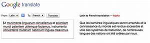 Traduction Francais Latin Gratuit Google : traductions latin fran ais ~ Medecine-chirurgie-esthetiques.com Avis de Voitures