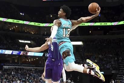 Morant Ja Grizzlies Memphis Nba Hornets Dunk