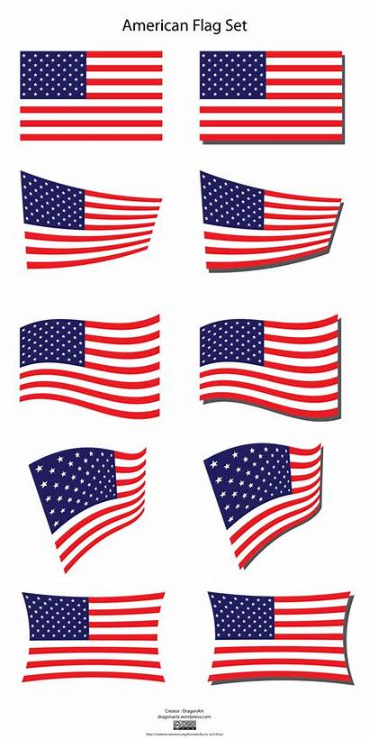 Flag American Clipart Vector Clip Flags States