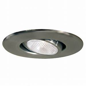 Halo in satin chrome gimbal recessed lighting trim