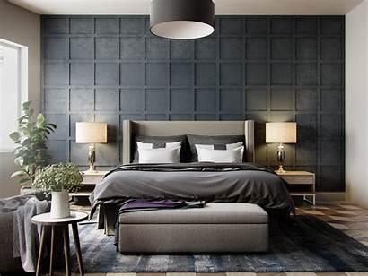 Grey Bedroom Wall Textured Bedrooms Designs Bed
