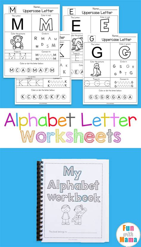 printable alphabet worksheets  turn   workbook alphabet letter worksheets alphabet