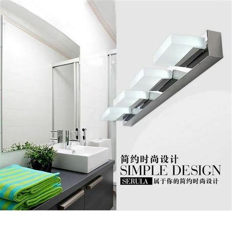 Led Bathroom Lighting Fixtures by Modern Bathroom Vanity Led Light Front Mirror