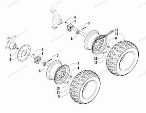 Arctic Cat Side By Side 2008 Oem Parts Diagram For Wheel