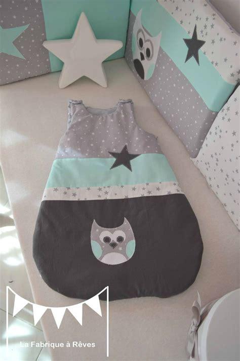 chambre bebe vert d eau gigoteuse turbulette gris vert d 39 eau étoiles hibou décoration chambre bébé fille garçon