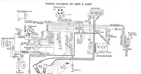Combination Switch Wiring Diagram Honda by Electrical Wiring Diagram Of Honda Cb92 And Ca95 All