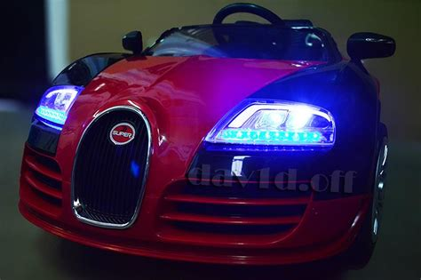 In terms of technological achievements nothing can come close. New Lux Large 12V Bugatti Veyron Electric Battery Kid Ride On Car Remote 3 Speed   eBay