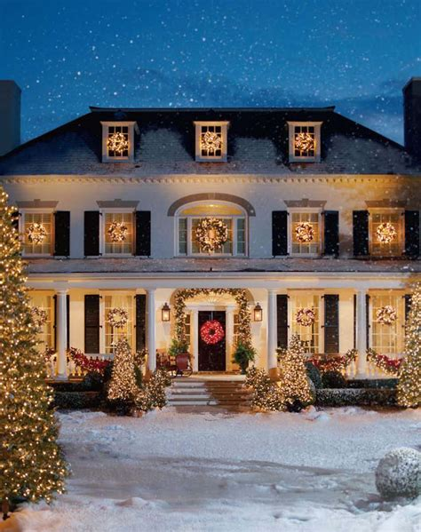 front house christmas decorations special effects snow faux snow movie snow effects services flocking snofoam snowcel