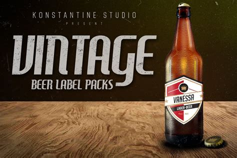 vintage beer labels pack graphic objects creative market