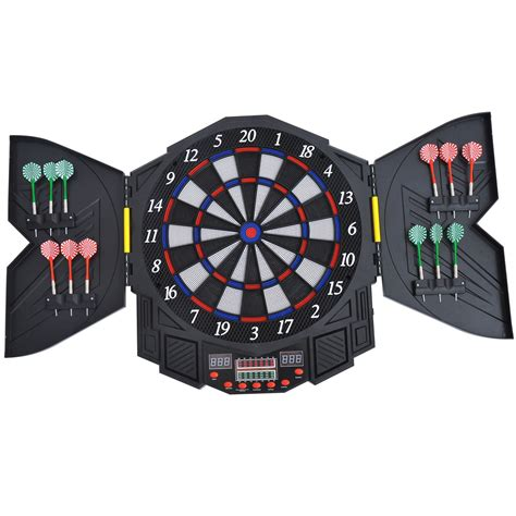 Homcom 27 Games Dart Board Dartboard Set Electronic Led