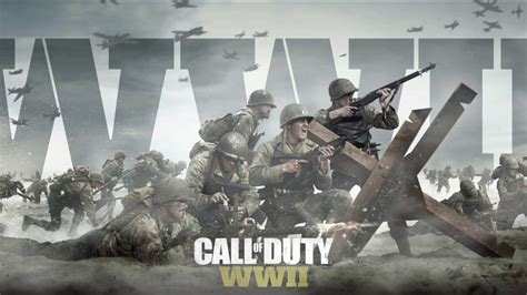 Call Of Duty WWII Reveal Poster With Smoke Live Wallpaper
