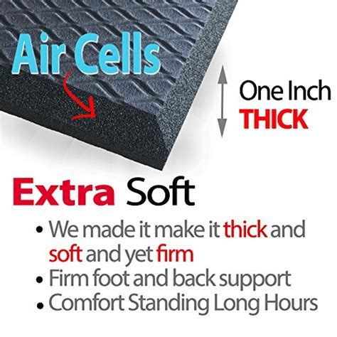 extra thick   standing anti fatigue mat air soft