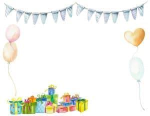 birthday border backgrounds customizable