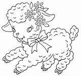 Jamboree Paques Redwork Moutons Embroider Passionbrode77 Broderies sketch template