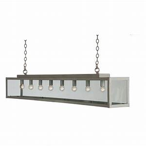 Long bar suspension ceiling pendant light in painted grey
