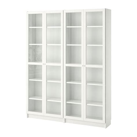 billy oxberg bookcase whiteglass