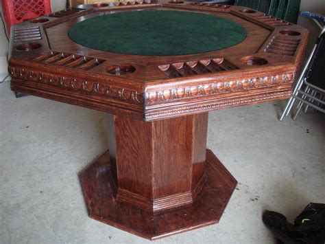 octagon game table plans poker table 3