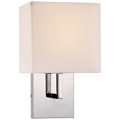 george kovacs fabric shade chrome 11 1 2 quot high wall sconce