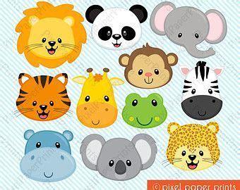 resultado de imagen para moldes caritas de animales para imprimir caritas caras de animales