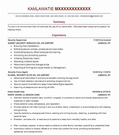 Security Supervisor Skills by Best Security Supervisor Resume Exle Livecareer