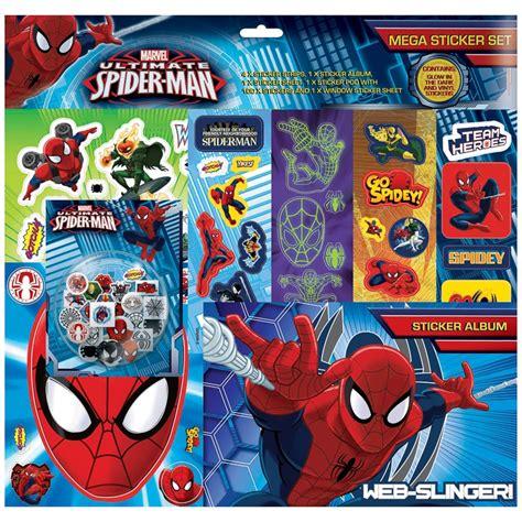 spider man mega sticker album set toys kids crafts bm