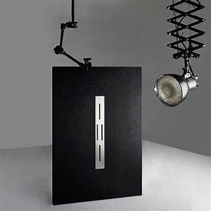 Receveur Douche 140x90 : receveur de douche rectangulaire en gel coat ardesia noir ~ Edinachiropracticcenter.com Idées de Décoration