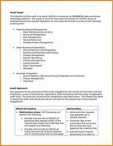 4 audit plan template reimbursement letter With it audit proposal template
