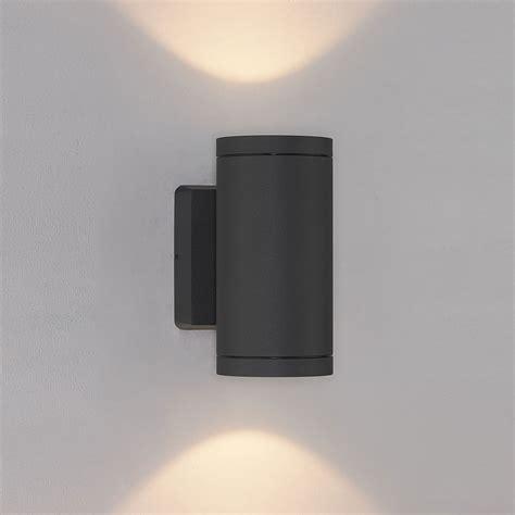 bruck 105015bk cylinder modern black led exterior wall
