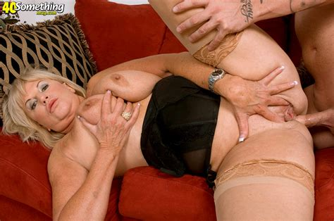 archive of old women blonde of a retirement age loves anal sex