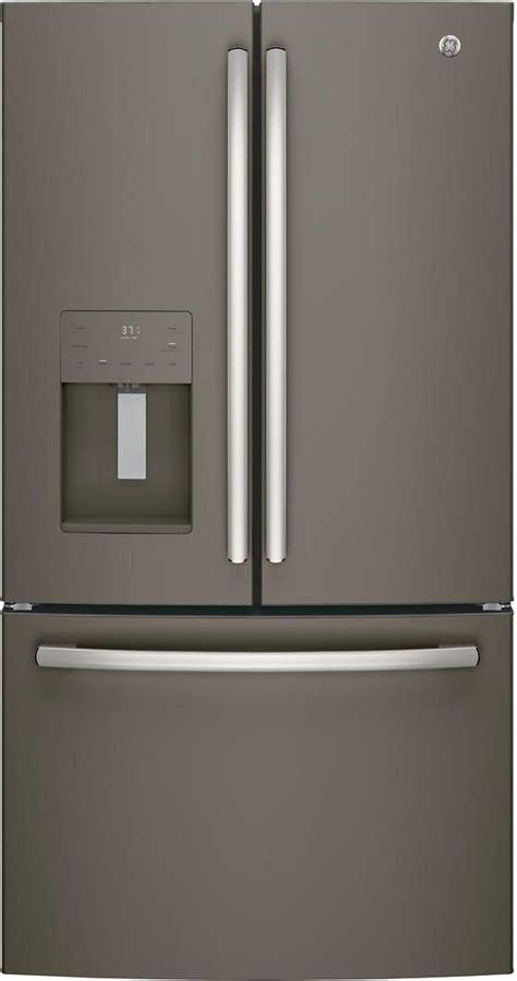ge  cu ft french door refrigerator slate gfejmmes spencers tv appliances