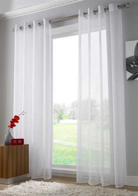 White Sheer Voile Curtains by Voile Curtain Panels