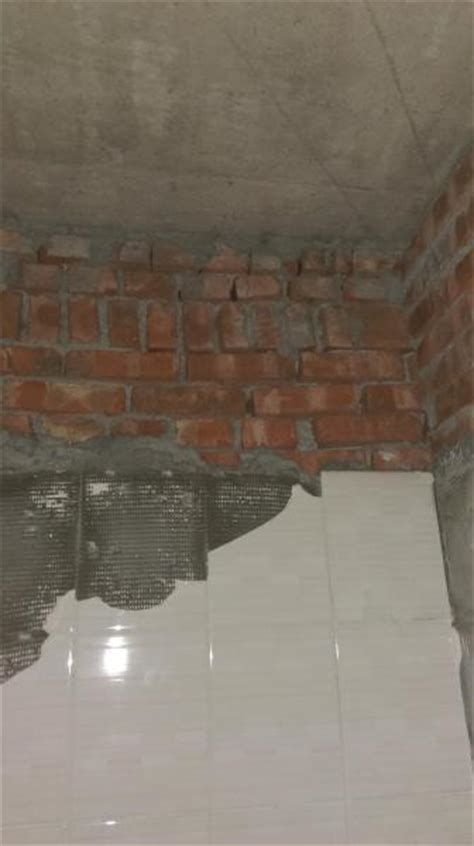 tiling   brick wall   cement backer board