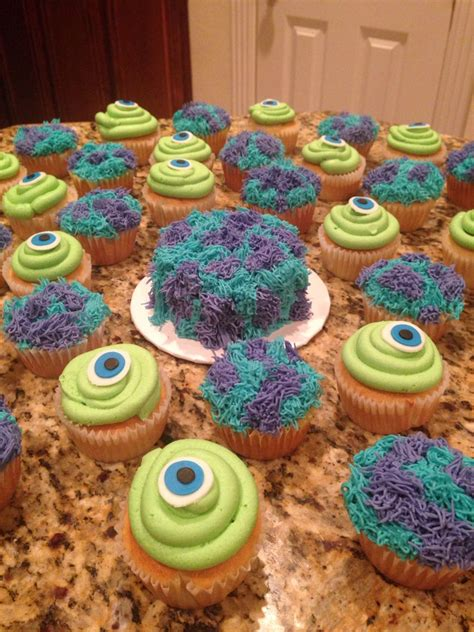 monster  mike  sully cupcakes  smash cake
