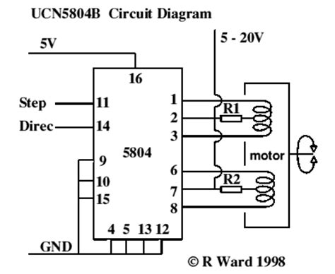 Free Circuit Diagrams Drive Stepper Motor With Ucn