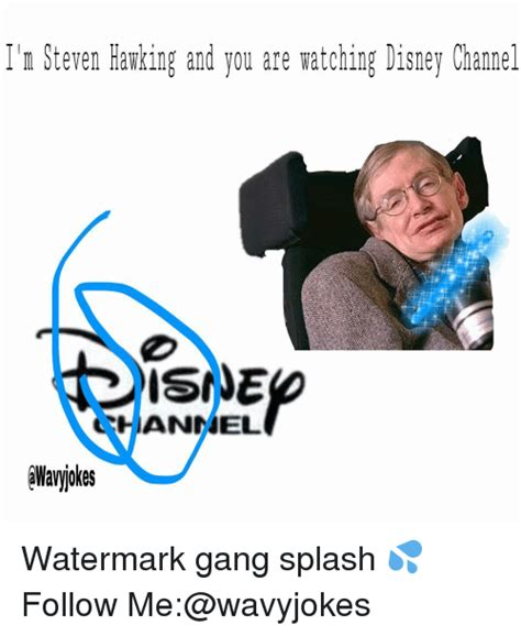 Disney Channel Memes - ilm steven hawking and you are watching disney channel iannel watermark gang splash follow me