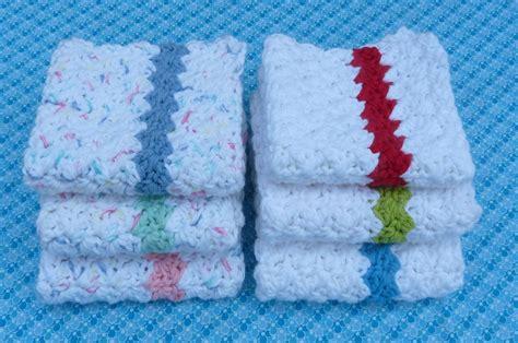 free crochet dishcloth patterns whiskers wool simple stripes dishcloth free pattern