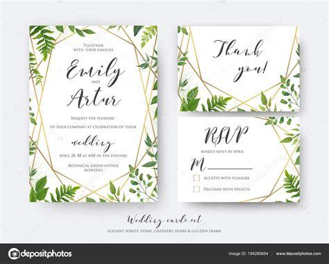 Wedding floral invite invitation rsvp thank you card