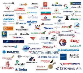 Airline Company Logo with Names