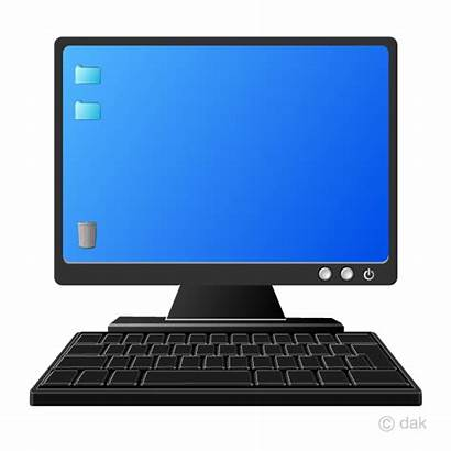 Computer Clipart Keyboard Monitor Pc Clipground Cliparts