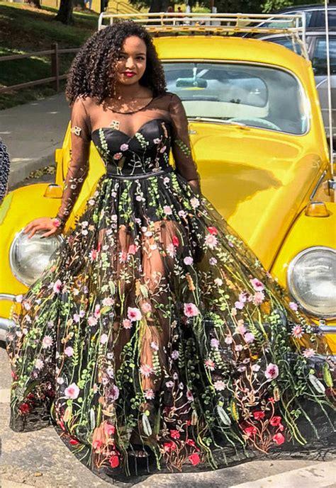 embroidered formal dress floral maxi dress evening dress