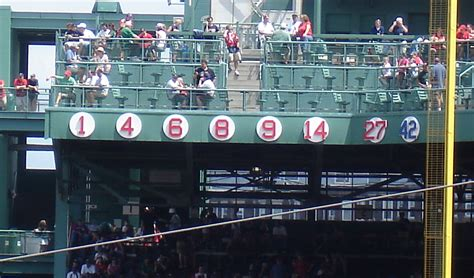 retired numbers boston red sox baseball essential